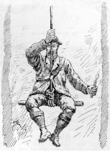 Način s katerim so Gregorja Žiberno spustili v Kačno jamo